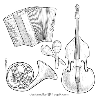 Hand drawn instruments collection