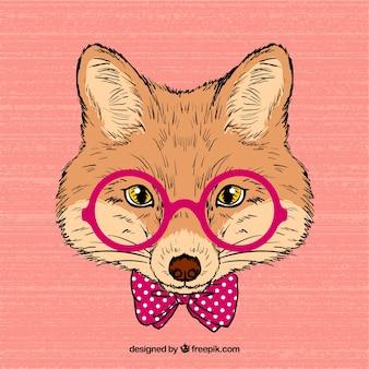 Hand drawn intellectual fox