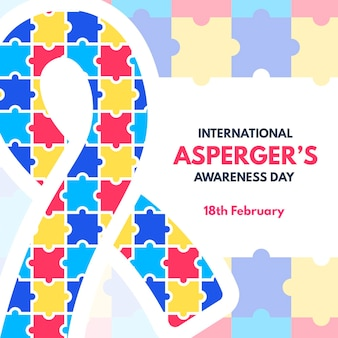 손으로 그린 국제 asperger의 인식의 날