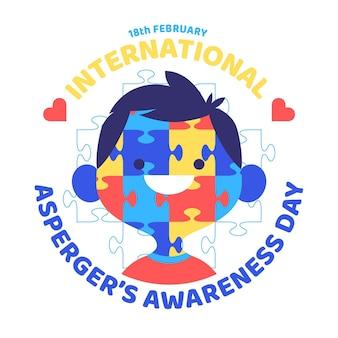 手描きの国際アスペルガーの意識の日