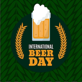 Hand drawn international beer day background