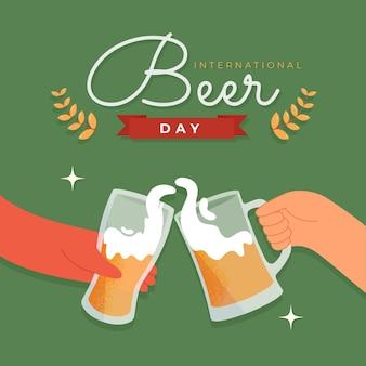 Нарисованная рукой иллюстрация международного дня пива