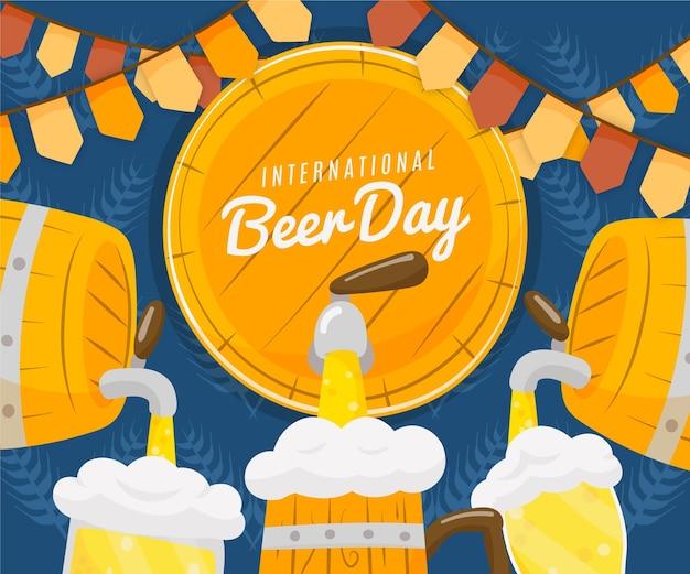 手描きの国際ビールの日イラスト