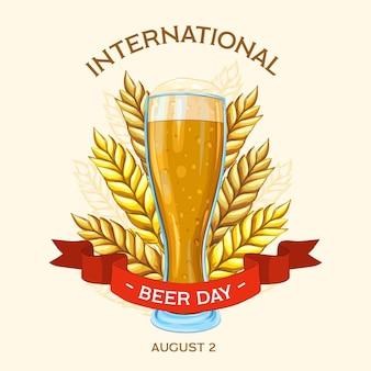 Giornata internazionale della birra disegnata a mano