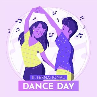 손으로 그린 국제 댄스 데이 그림