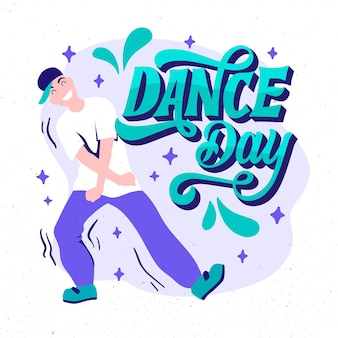 Hand drawn international dance day illustration