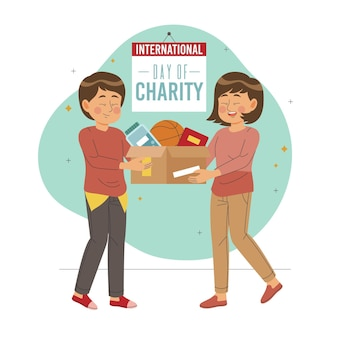 Hand drawn international day of charity concept