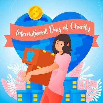 Hand drawn international day of charity