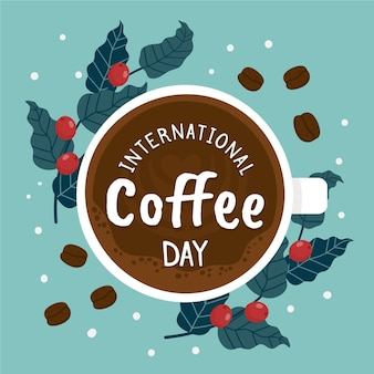 Hand drawn international day of coffee