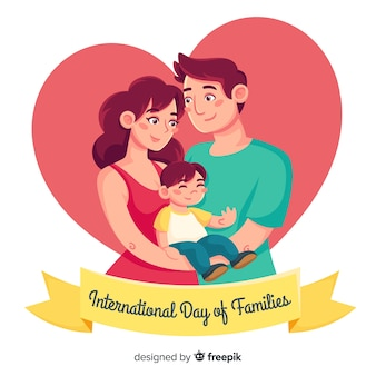 Hand drawn international day of families background
