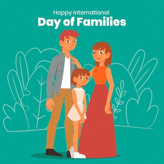 Hand drawn international day of families concept