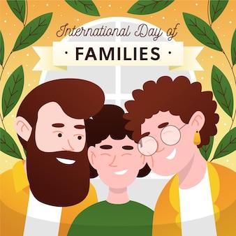 Illustrazione disegnata a mano della giornata internazionale delle famiglie