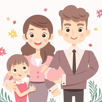 Hand drawn international day of families illustration