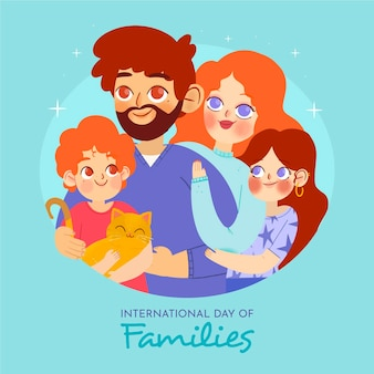 Hand drawn international day of families illustration