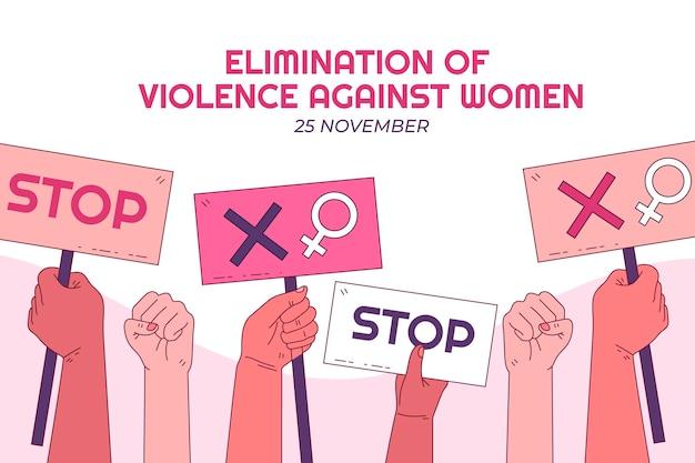 Ручной обращается международный день борьбы за ликвидацию насилия в отношении женщин