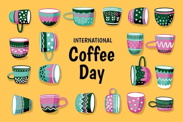 Ручной обращается международный день кофе