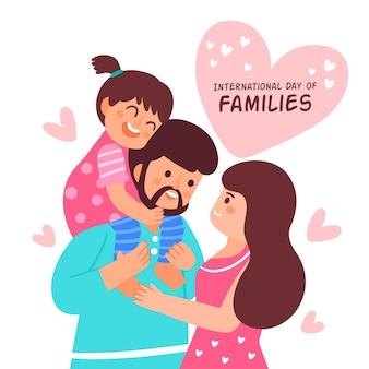 손으로 그린 국제 가족 그림의 날