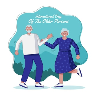 高齢者の手描き国際デー