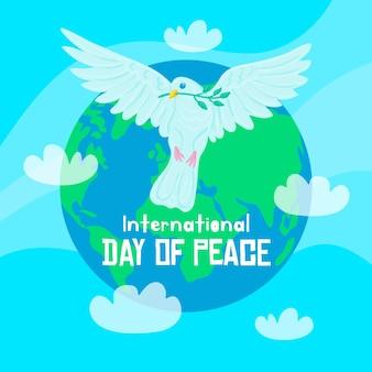 手描きの平和概念の国際デー