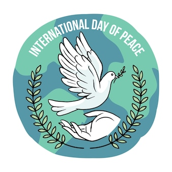 手描きの国際平和デー