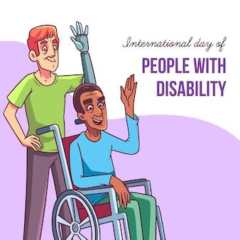 Ручной обращается международный день людей с инвалидностью