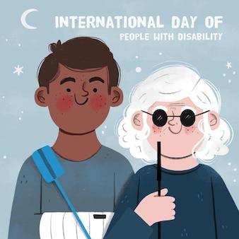 障害者の手描きの国際的な日