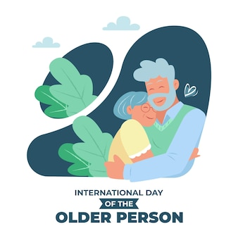 Hand drawn international day of the older persons illustration