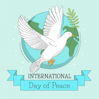 Hand drawn international day of peace concept