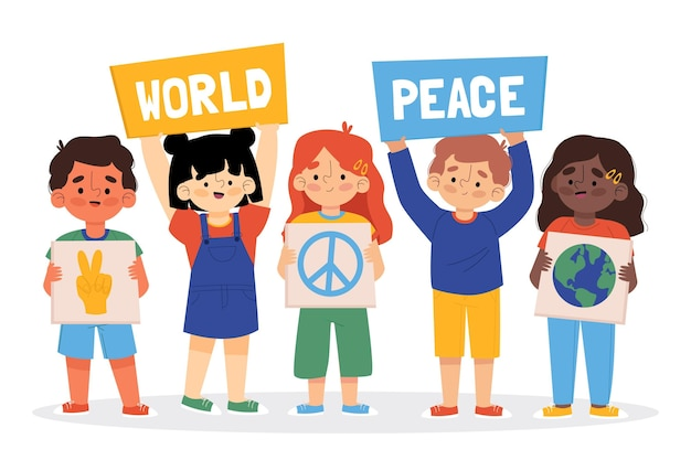 Hand drawn international day of peace