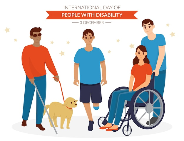 Hand drawn international day of people with disability