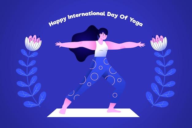 Giornata internazionale dello yoga disegnata a mano