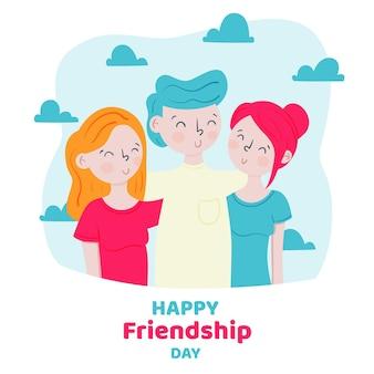 Нарисованная рукой иллюстрация дня международной дружбы
