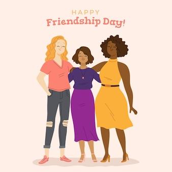 手描きの国際友情の日のイラスト