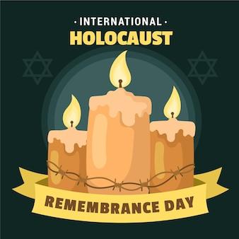 Giorno della memoria dell'olocausto internazionale disegnato a mano