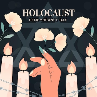 Hand drawn international holocaust remembrance day