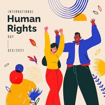 Hand drawn international human rights day illustration