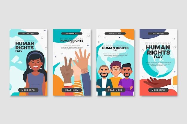 手描きの国際人権デーのinstagramストーリーコレクション