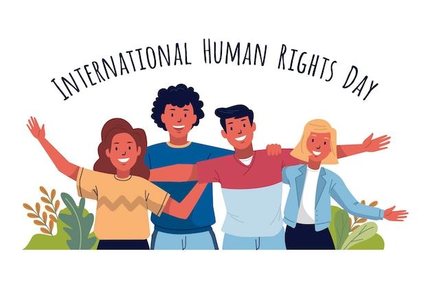 手描きの国際人権デー