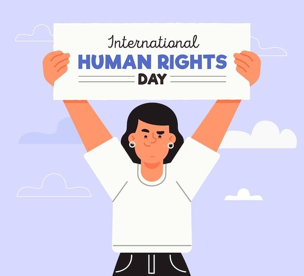 Hand drawn international human rights day