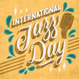 Нарисованная рукой иллюстрация международного джазового дня