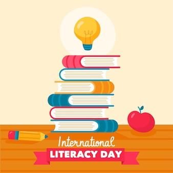 Ручной обращается концепция международного дня грамотности
