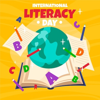 Hand drawn international literacy day