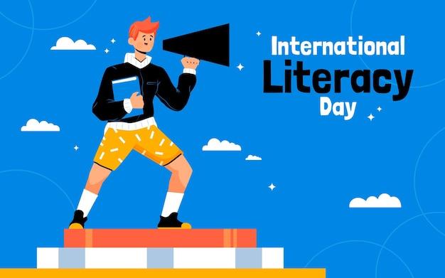 손으로 그린 국제 문해력의 날