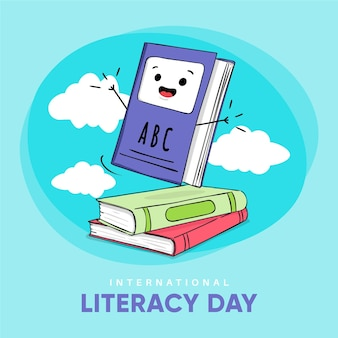 Hand drawn international literacy day