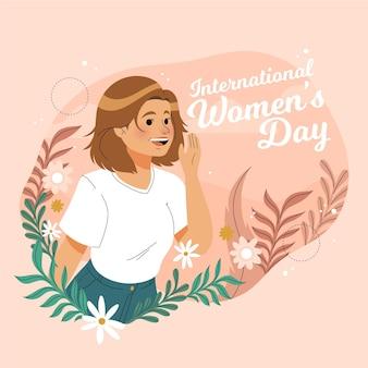 手描きの国際女性の日イベント