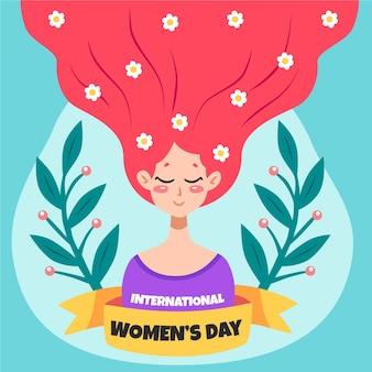 Ручной обращается международный женский день иллюстрированный