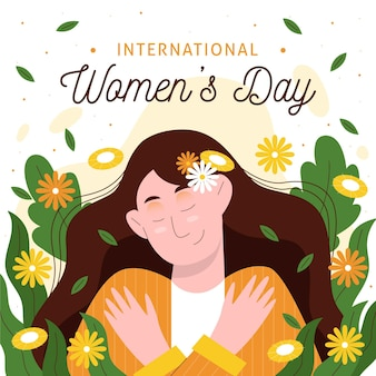 Hand drawn international women's day illustration
