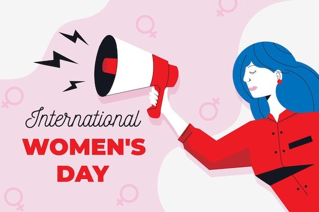 Hand drawn international women's day illustration