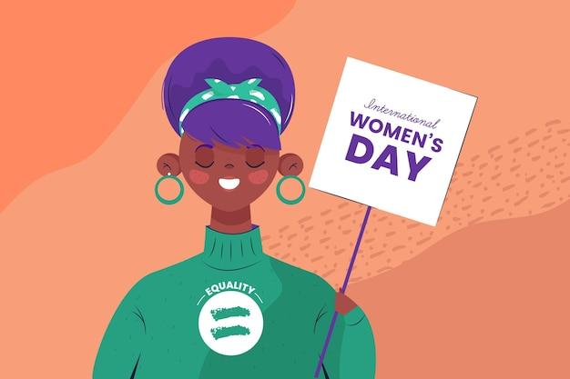 손으로 그린 국제 여성의 날 그림
