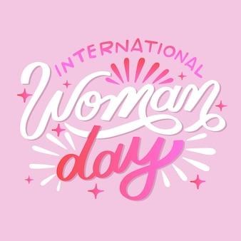 Ручной обращается международный женский день надписи